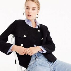 J.Crew Cropped Jacket in Boiled Wool